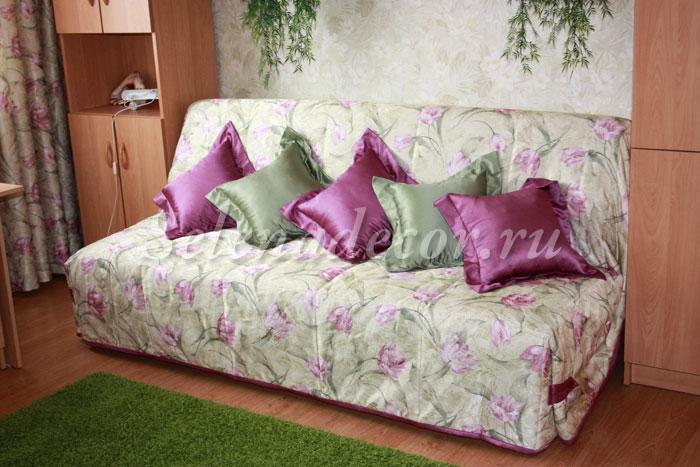 Как сшить простое покрывало на диван
