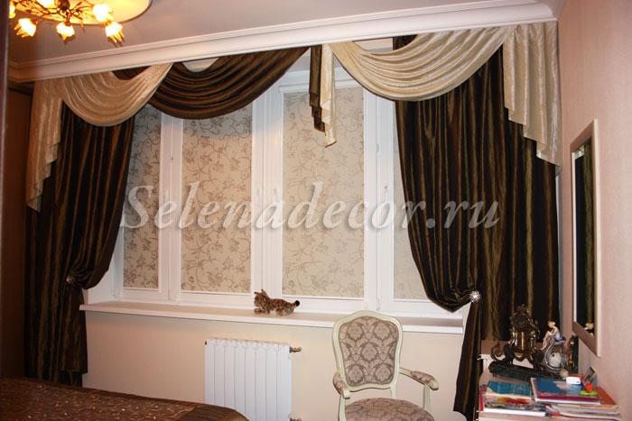 шторы для спальни в загородном доме фото