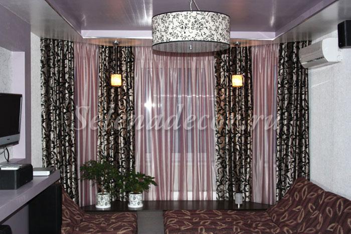 Черные шторы для гостиной фото
